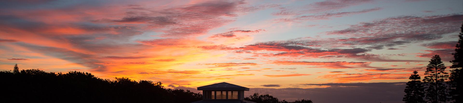 Sunrise at Kalaekilohana Inn & Retreat