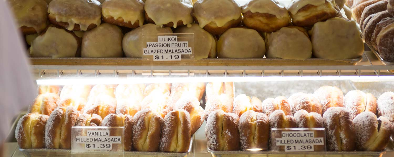 Fresh made malasadas at bakery
